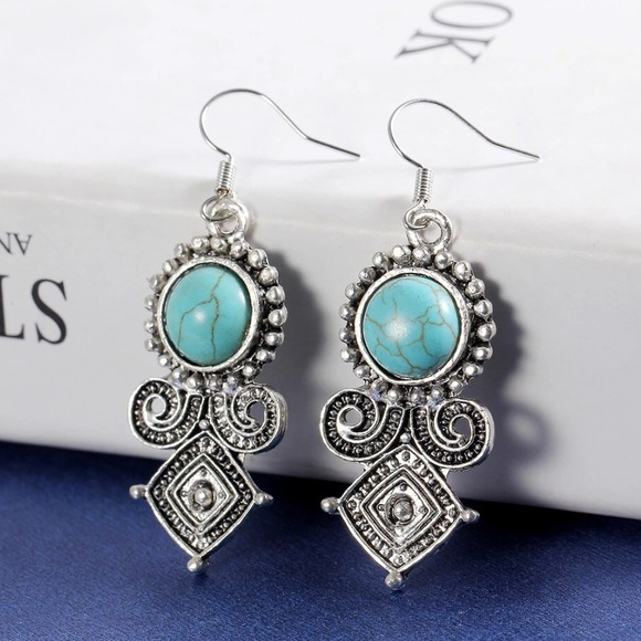 ethnic earrings blue stones style en with stone indian